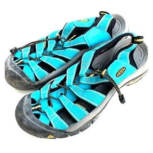 Keen Turquoise Black Yellow Water Shoes Size 10 US
